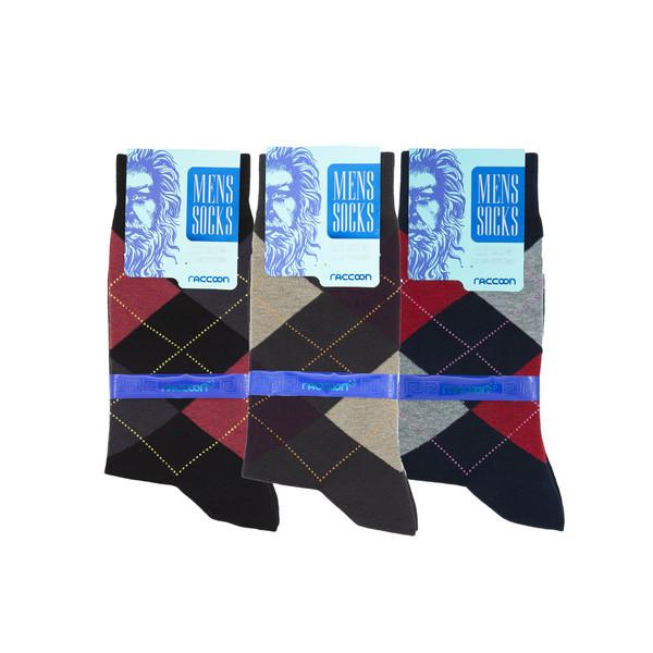 جوراب مردانه راکون مدل 102338 مجموعه 3 عددی