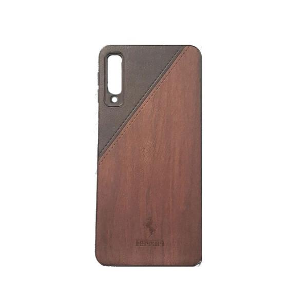 کاور طرح چرمی مدل A600 مناسب برای گوشی موبایل سامسونگ galaxy A7 2018
