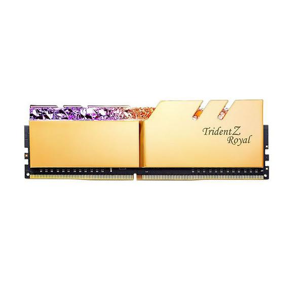 رم دسکتاپ DDR4 دو کاناله 3200 مگاهرتز CL16 جی اسکیل مدل Trident Z Royal Gold ظرفیت 64 گیگابایت