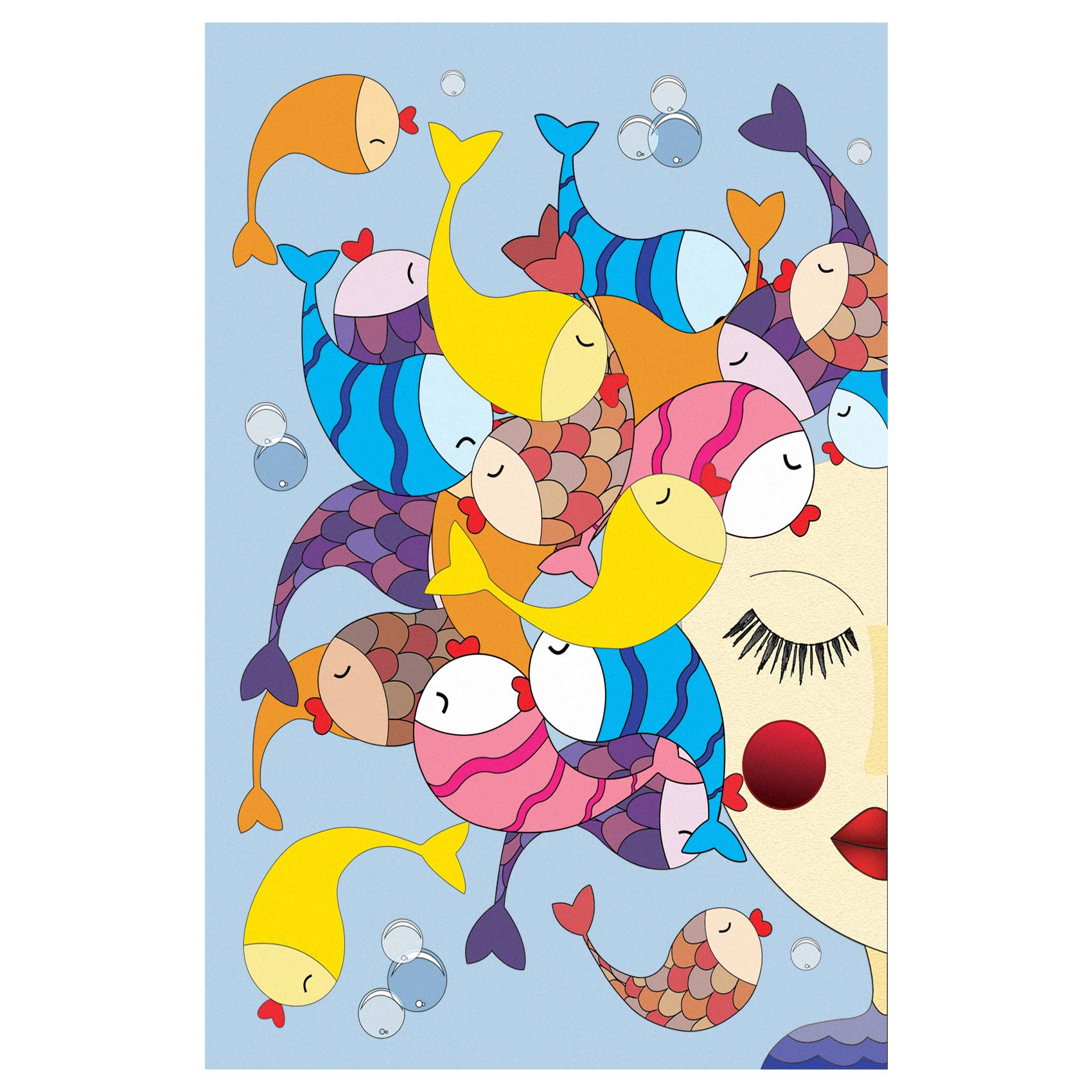 کارت پستال انتشارات سیبان مدل ماهی رقصان
