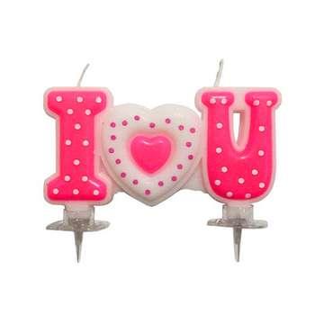 شمع تولد طرح قلب کد 020