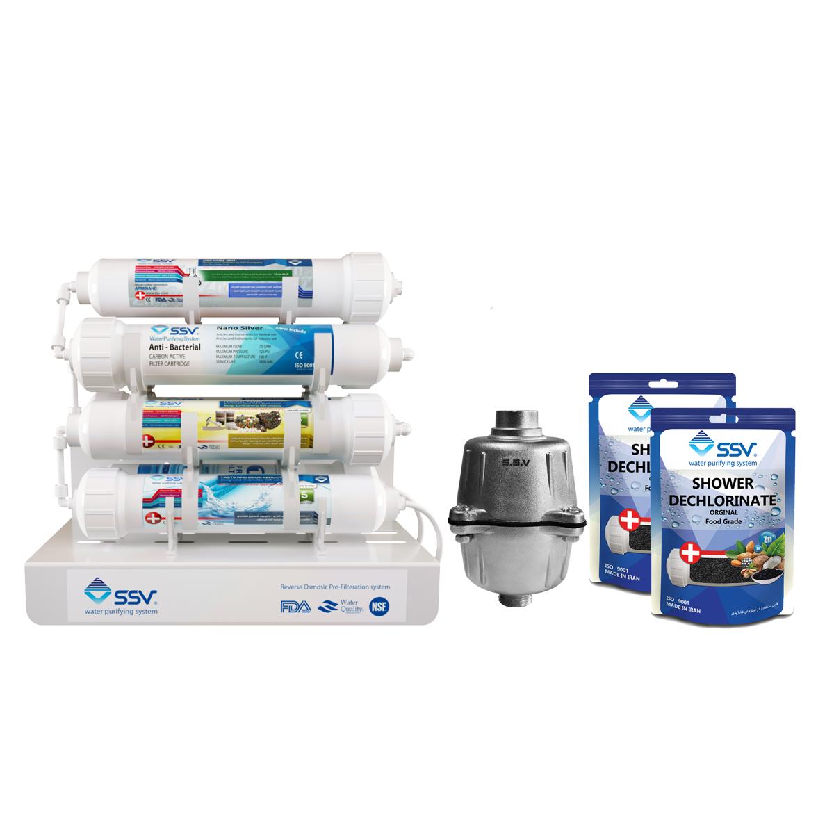 دستگاه تصفیه کننده آب اس اس وی مدل Jetline x900 به همراه فیلتر و شارژ یدک وزن 140 گرم