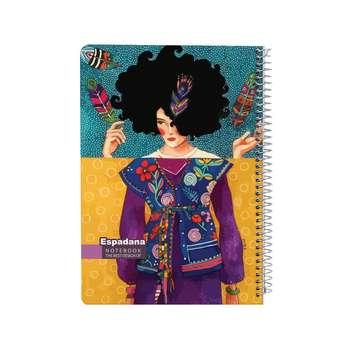 دفتر 100 برگ اسپادانا طرح دختر هنرمند کد AG9