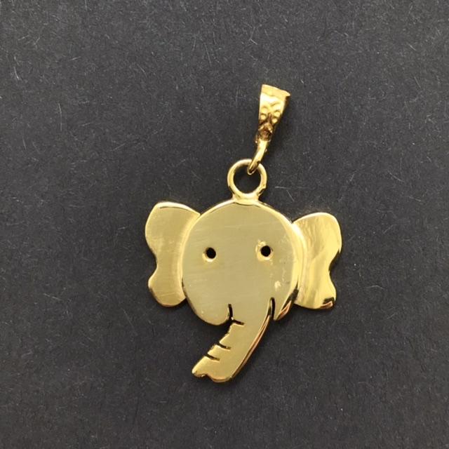 آويز گردنبند نقره مدل فيل كد A1004