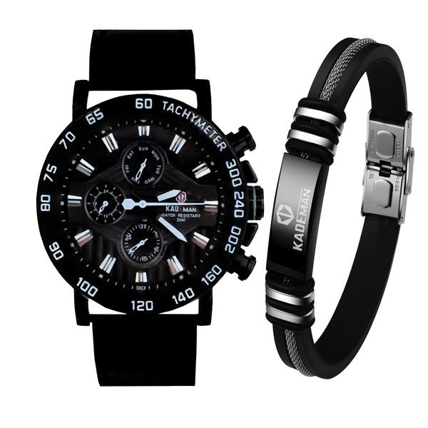 ست دستبند و ساعت مچیعقربه ای مردانه کیدمن مدل 9033G