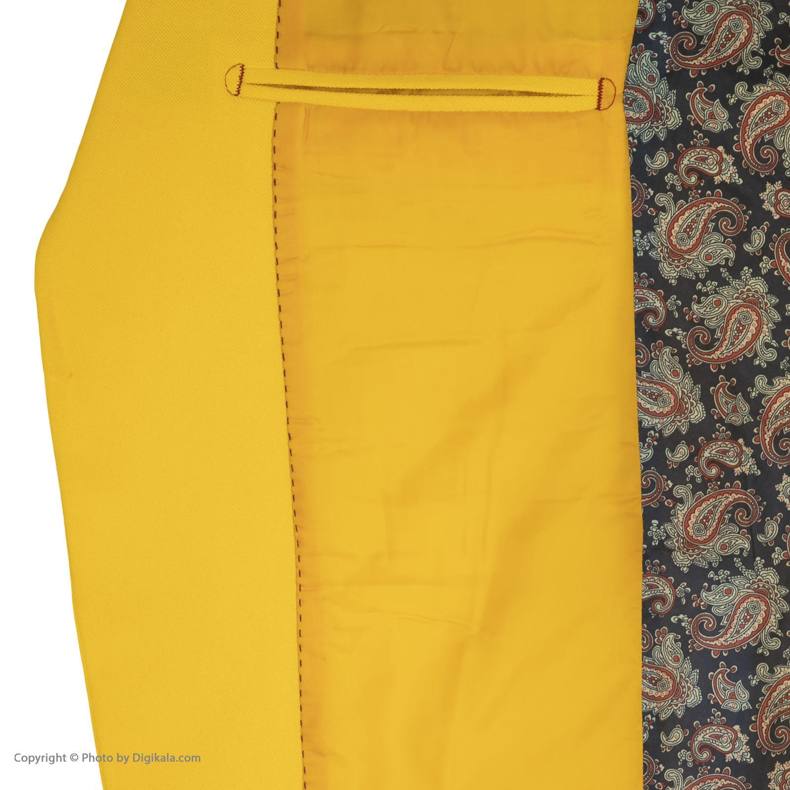 کت تک مردانه ان سی نو مدل جانسو رنگ زرد -  - 2