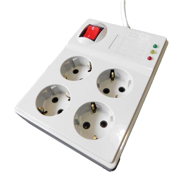 چند راهی برق و محافظ ولتاژ پارت الکتریک مدل PE-4S1.8M