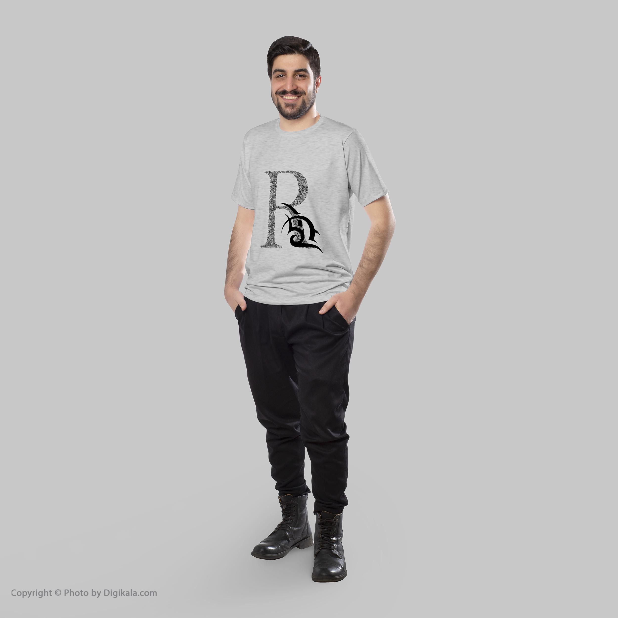 تیشرت مردانه 27 طرح R کد H09 -  - 4