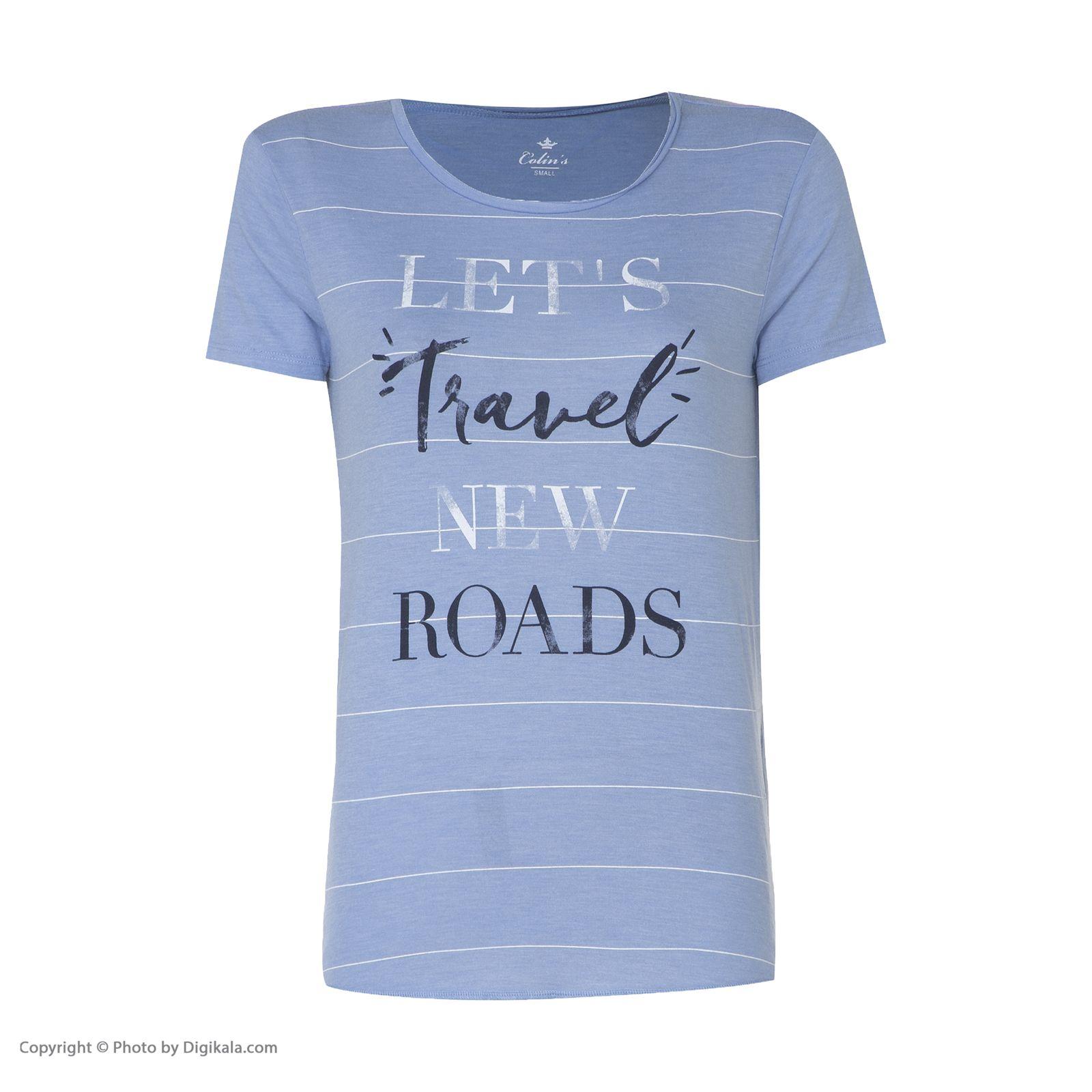 تی شرت زنانه کالینز مدل CL1026819-BLUEMELANGE main 1 1