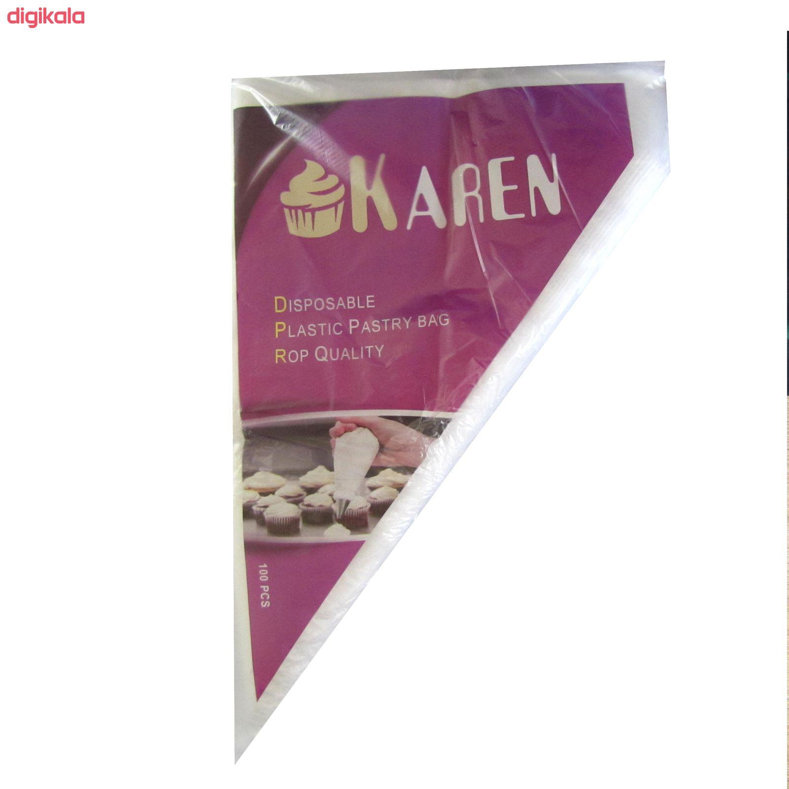 قیف خامه زن یکبار مصرف کارن مدل s40  بسته 100 عددی main 1 2
