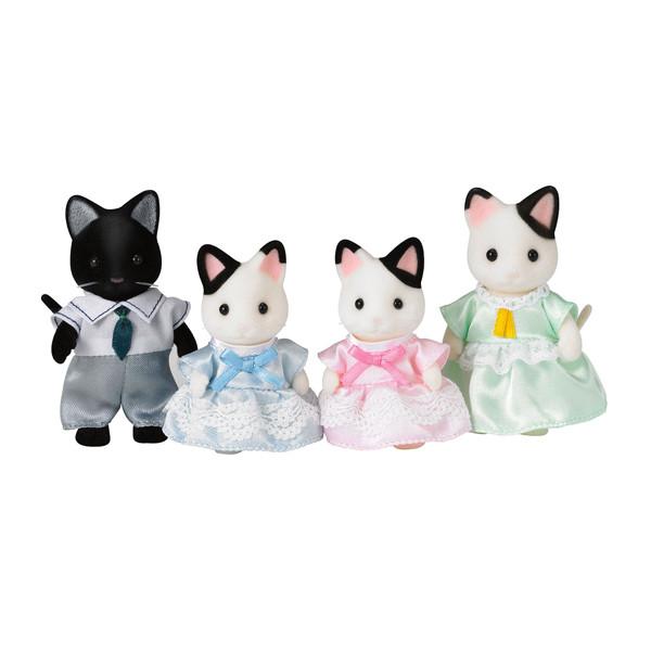 عروسک سیلوانیان فامیلیز مدل خانواده خانواده گربه تاکسیدو کد 5181 مجموعه 4 عددی