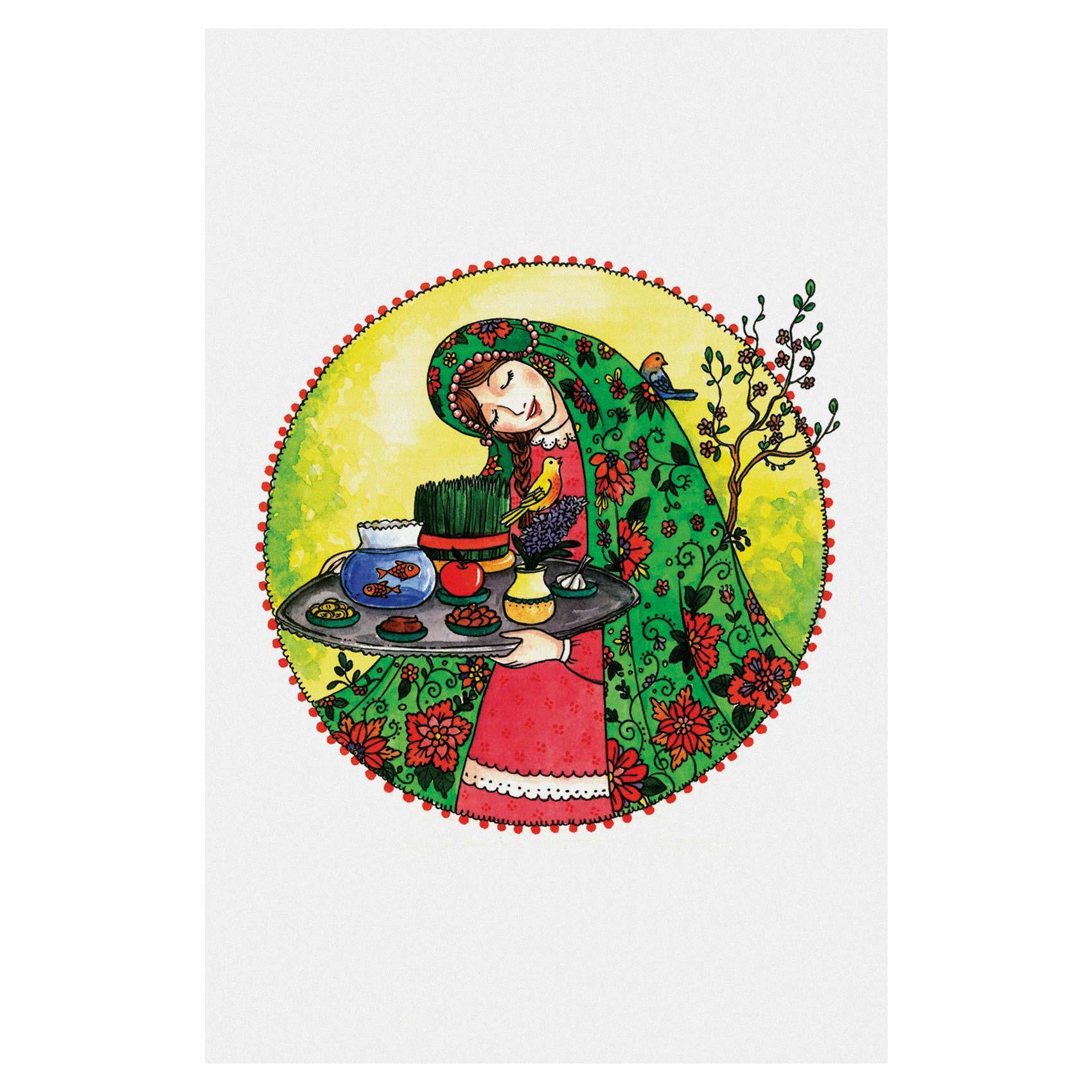 کارت پستال انتشارات سیبان مدل سینی هفت سین