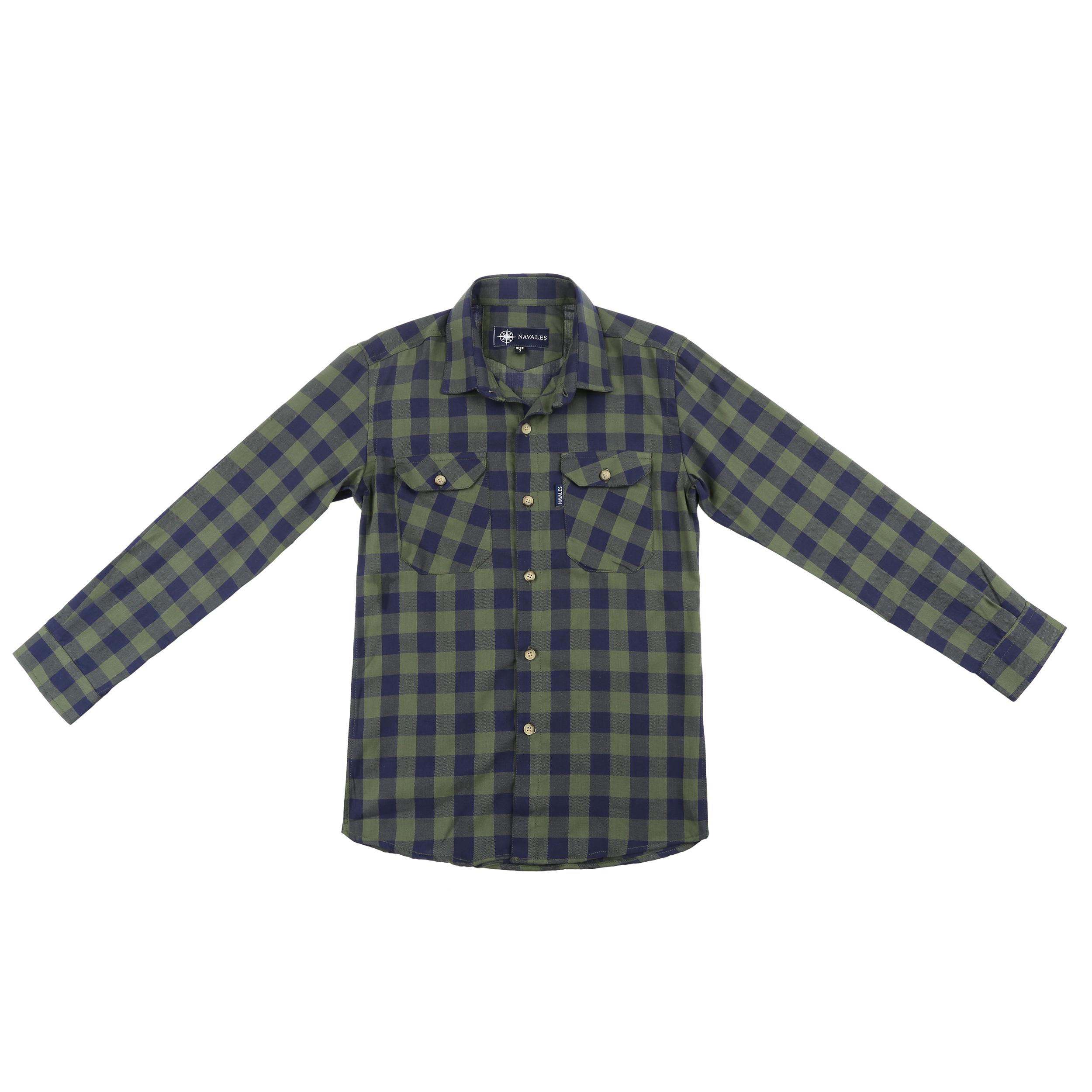 پیراهن پسرانه ناوالس کد D-20119-GN main 1 1