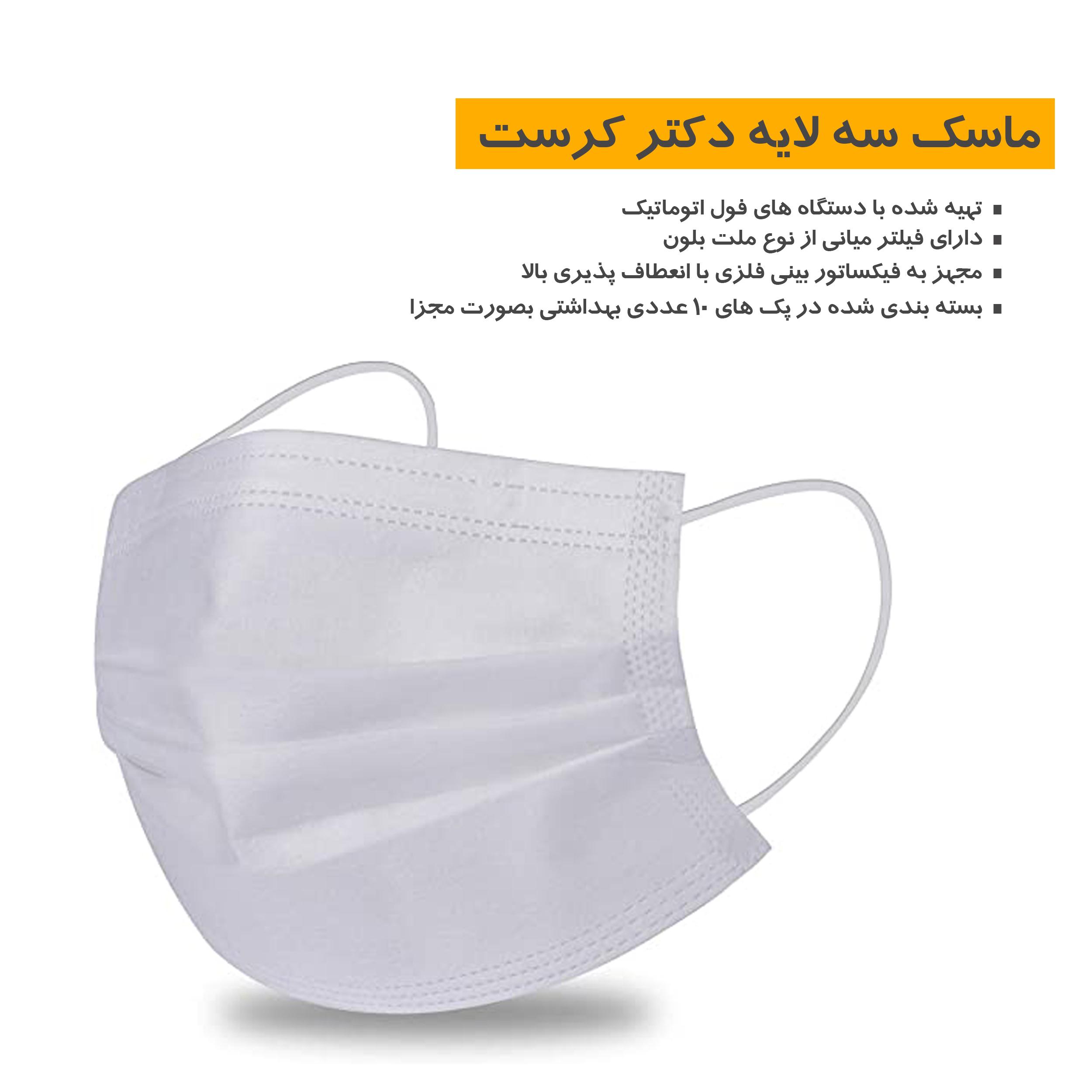 ماسک تنفسی دکتر کرست مدل Dr-c50 بسته 50 عددی