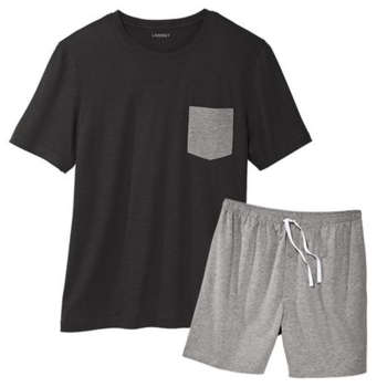 ست تی شرت و شلوارک مردانه لیورجی مدل 2093276 رنگ مشکی