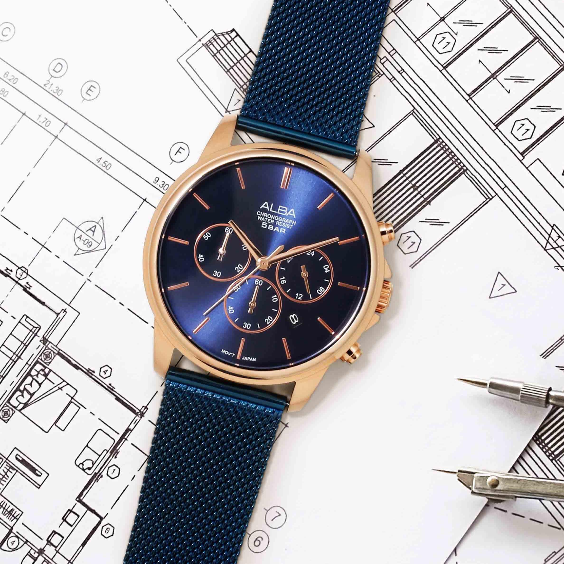 ساعت مچی عقربهای مردانه آلبا مدل AT3E40X1