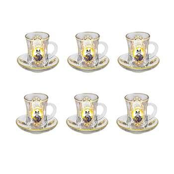 سرویس چای خوری 12 پارچه چهرازی طرح شاه عباس کد SPH02