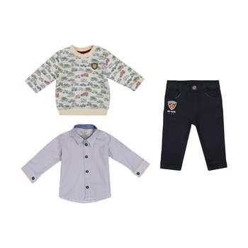 ست 3 تکه لباس پسرانه ببوش مدل 2141201-01