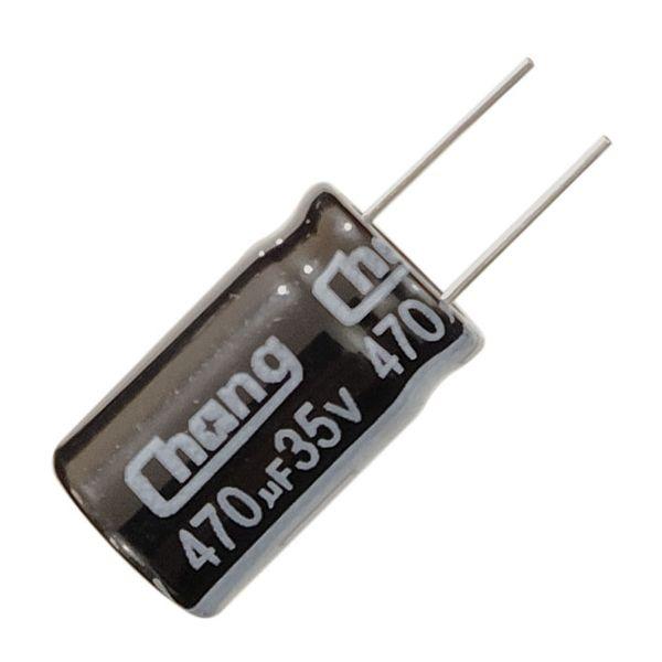 خازن 470 میکرو فاراد چانگ مدل Ch-35 بسته 10 عددی