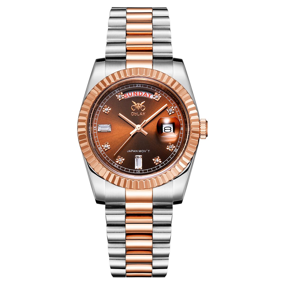 ساعت مچی عقربه ای مردانه اوبلاک مدل 72690              ارزان