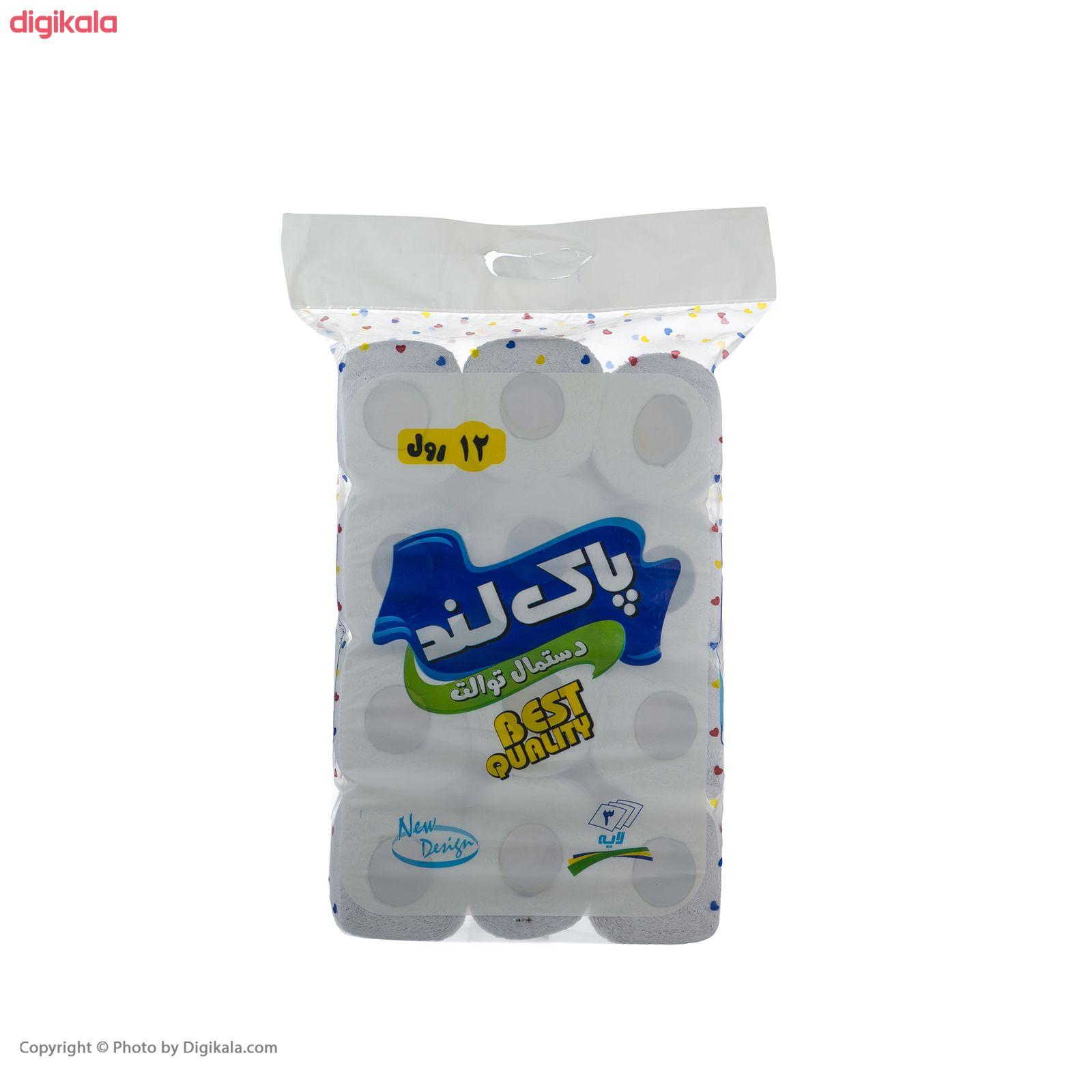 دستمال توالت پاکلند مدل Heart بسته 12 عددی main 1 1