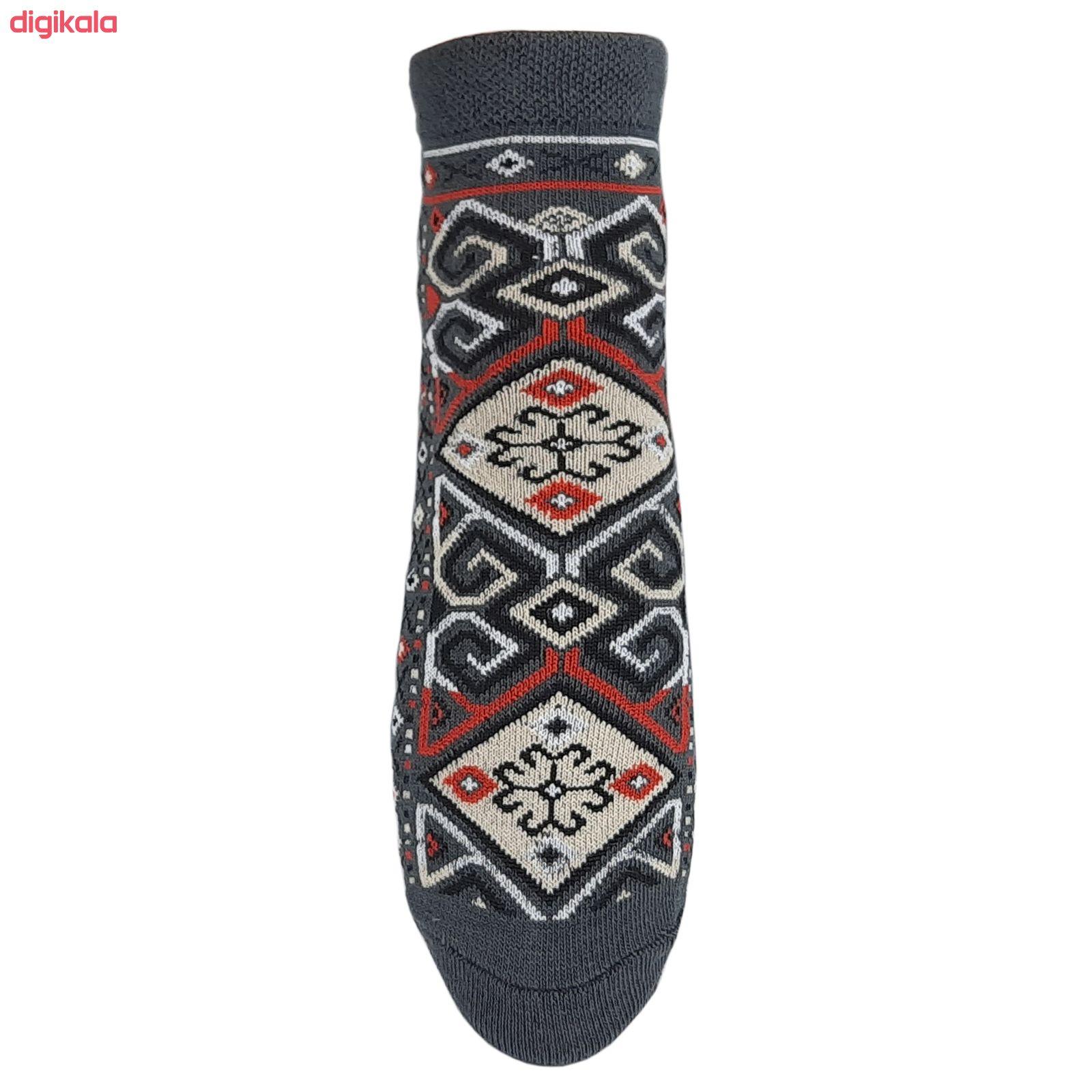 جوراب زنانه طرح سنتی کد JZ-02 مجموعه 4 عددی main 1 4