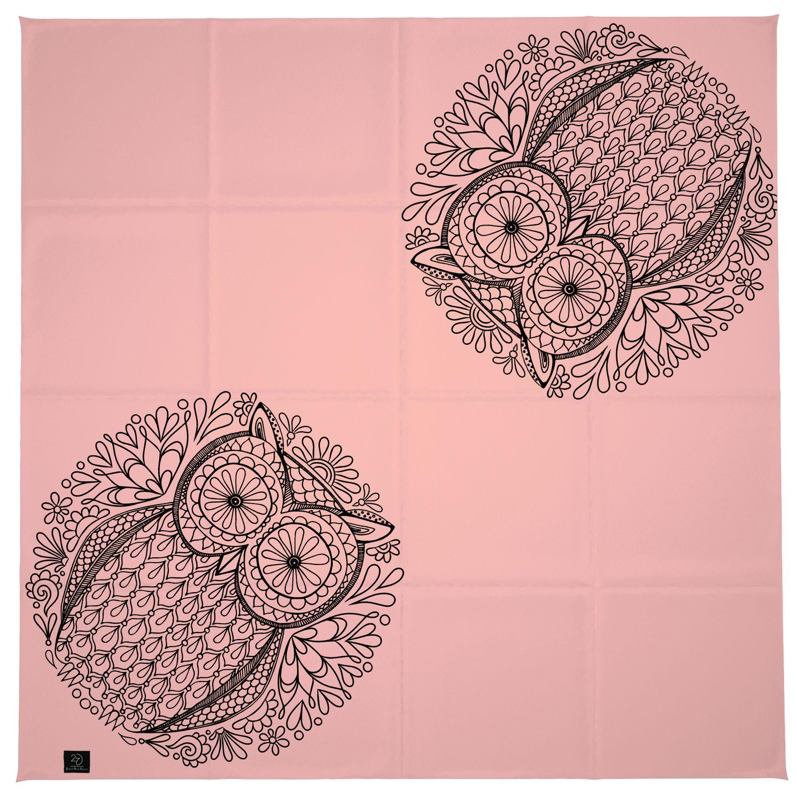 روسری زنانه 27 طرح جغد کد H07 -  - 7