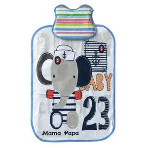 زیرانداز تعویض نوزاد ماما پاپا طرح بچه فیل کد 302