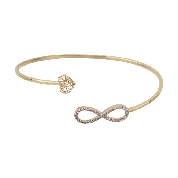دستبند النگویی طلا 18 عیار زنانه قیراط مدل GH04