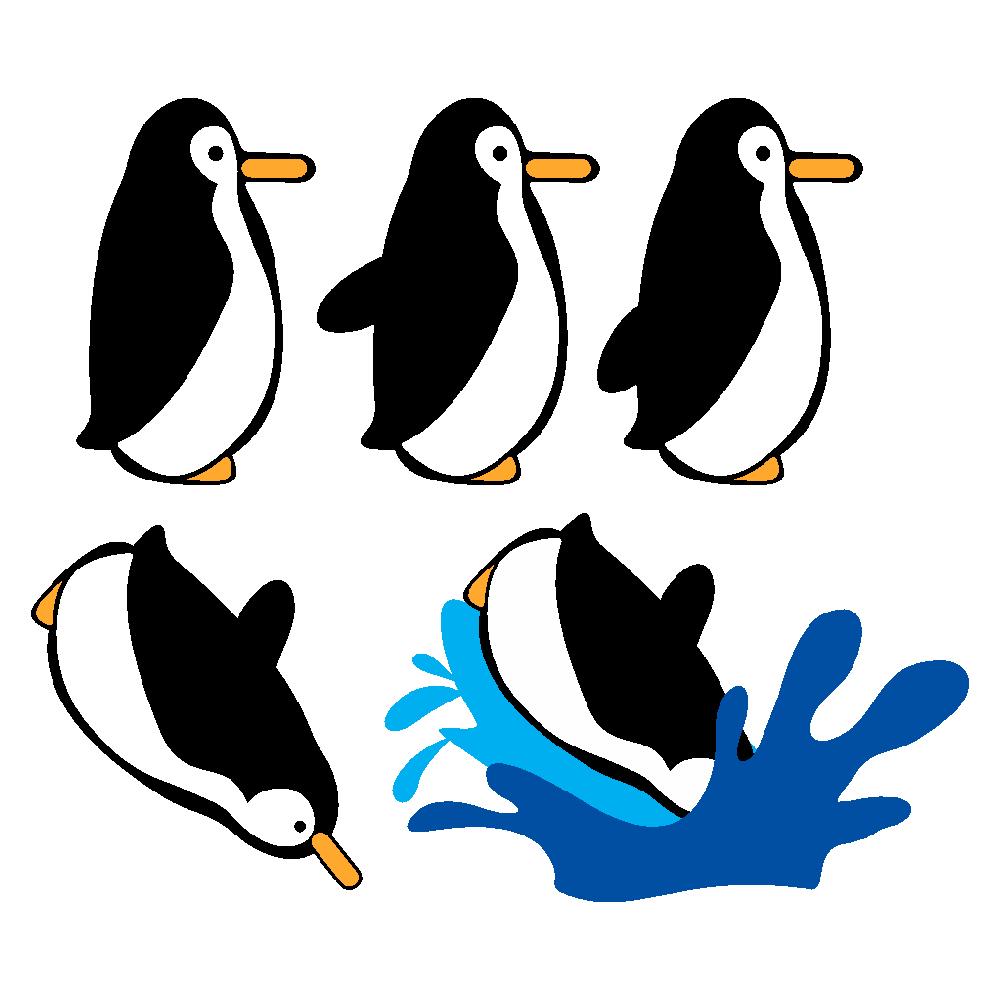 استیکر فراگراف  کلید و پریز FG طرح پنگوئن شیرجهزن کد 004