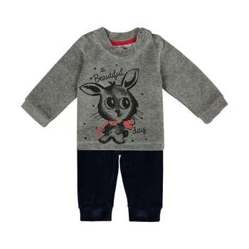 ست تی شرت و شلوار دخترانه آدمک مدل 2171134-59
