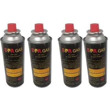 کپسول گاز سفری 210 گرمی پی آر مدل 201165020 بسته 4 عددی
