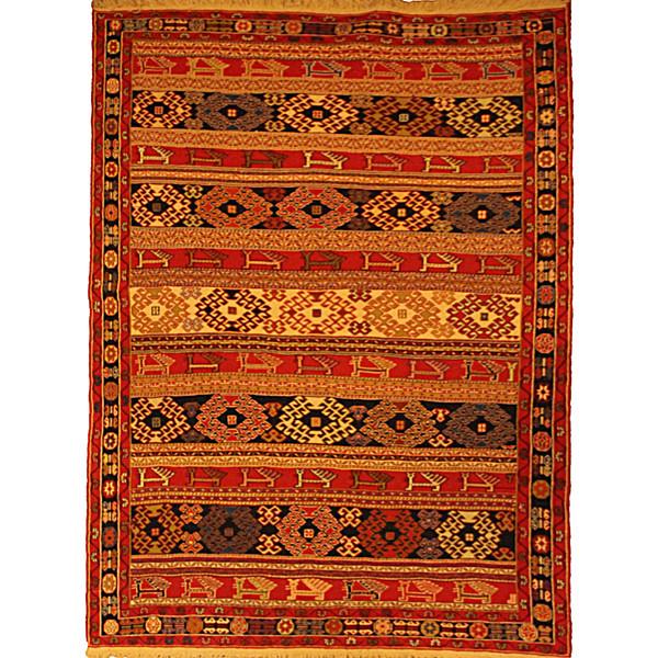 قالیچه دستبافت گلیم ورنی دو و نیم متری کد 106