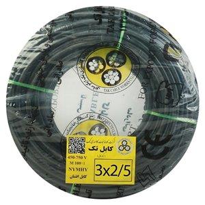 کابل برق افشان 3 در 2.5 کابل تک مدل NYMHY325