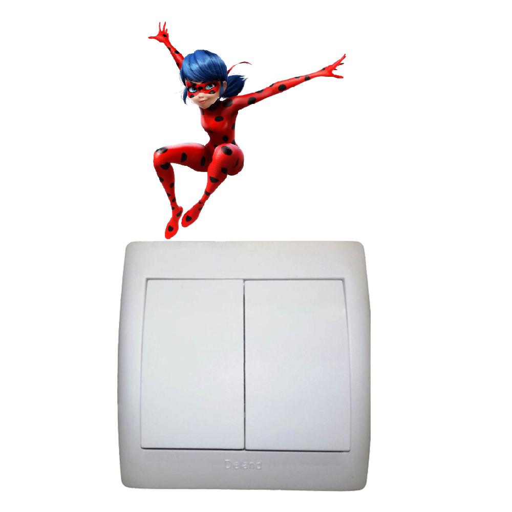 استیکر فراگراف FG طرح دختر کفشدوزکی کد 0004 Ladybug