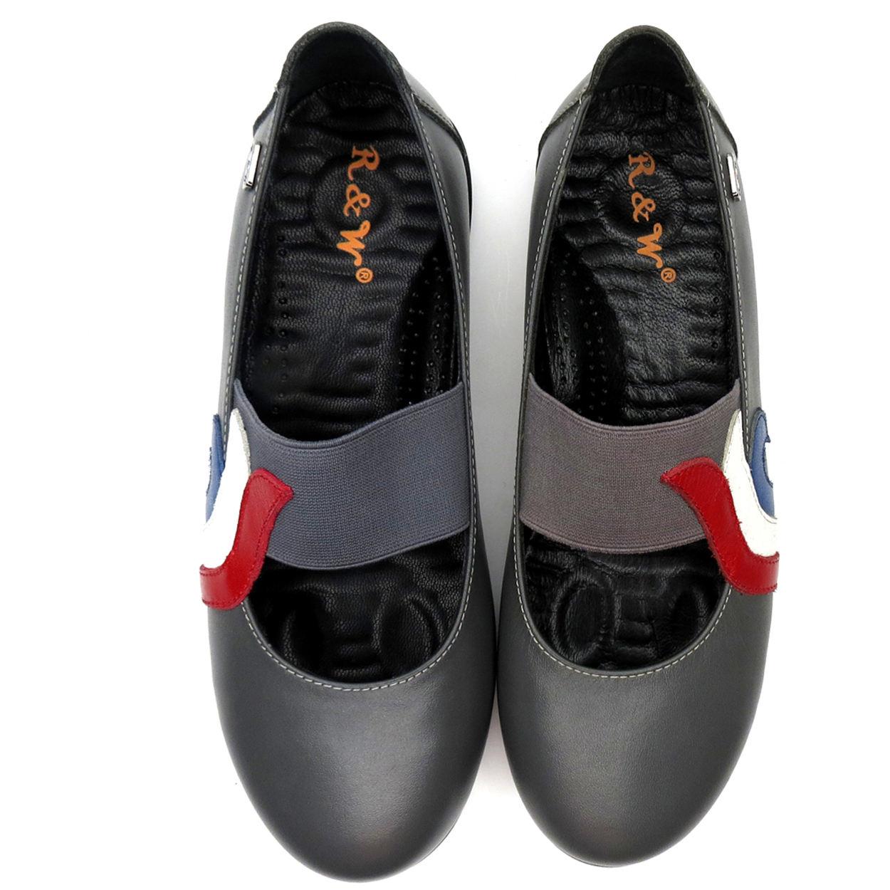 کفش روزمره زنانه آر اند دبلیو مدل 982 رنگ طوسی -  - 7