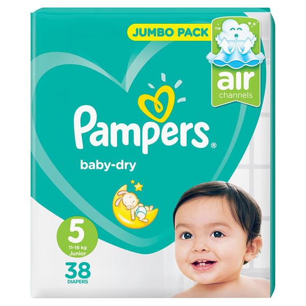 پوشک پمپرز مدل Baby Dry سایز 5 بسته 38 عددی