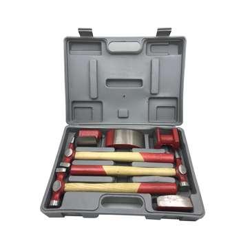 ابزار صافکاری بدنه خودرو مدل HT7 مجموعه 7 عددی