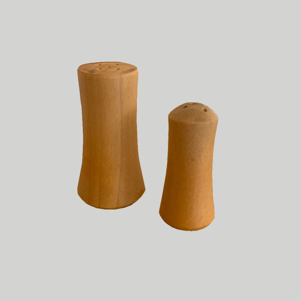 نمکدان چوبی مدل بند انگشتی مجموعه 2 عددی
