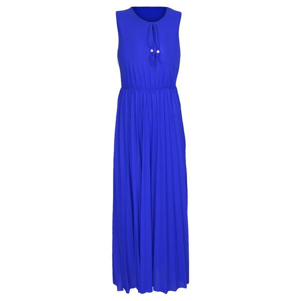 پیراهن ساحلی زنانه کد 3221AB رنگ آبی