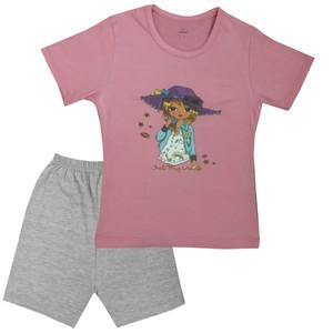 ست تی شرت و شلوارک دخترانه تروسکان مدل Sum101