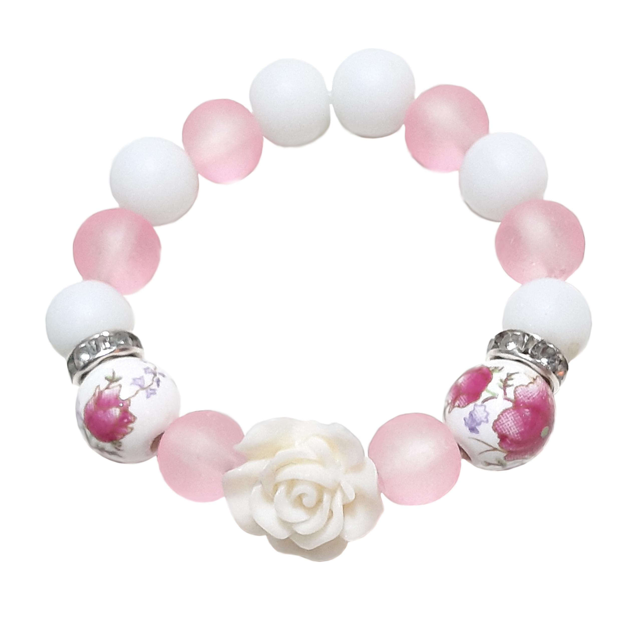دستبند دخترانه طرح گل