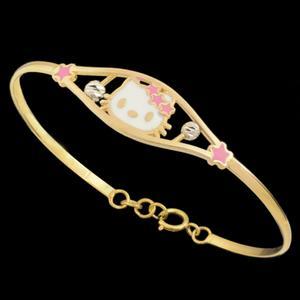 دستبند طلا 18 عیار دخترانه طلای مستجابی کد 67062
