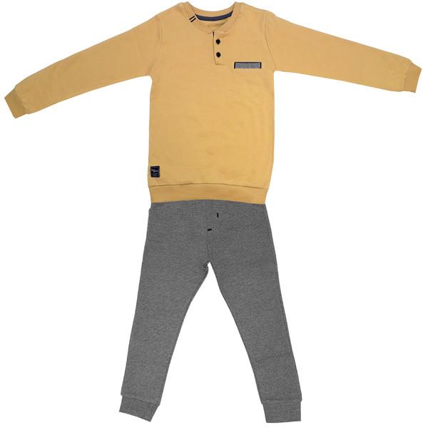 ست سویشرت و شلوار پسرانهکد 3184 رنگ زرد