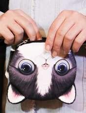 کیف پول دخترانه طرح گربه مدل C-13BK -  - 4
