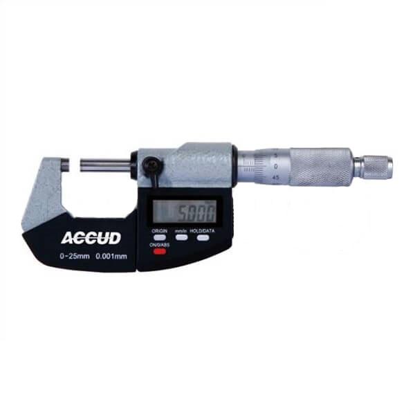میکرومتر دیجیتال آکاد مدل 03-001-311 گستره 25 - 0 میلیمتر