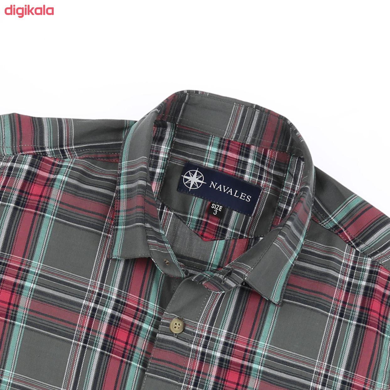 پیراهن پسرانه ناوالس کد G-20119-GY main 1 4