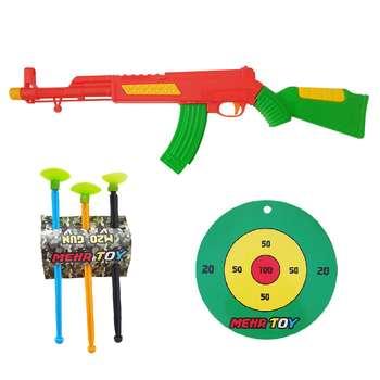 تفنگ بازی طرح کلاشینکف کد loi7 مجموعه 5 عددی