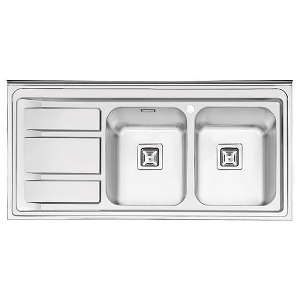 سینک ظرفشویی ایلیا استیل مدل 1068 روکار