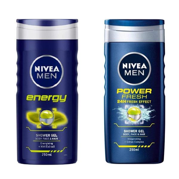شامپو مو و بدن نیوآ مدل Power Fresh  حجم 250 میلی لیتر به همراه شامپو مو و بدن نیوآ مدل Energy